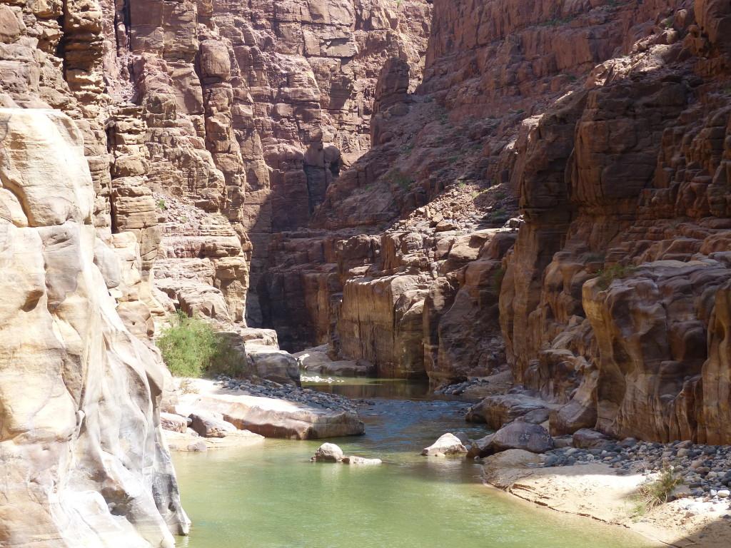 Canyoning start point at Al Mujib National Reserve